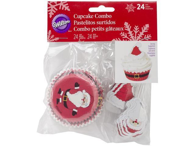 Cupcake Combo Pack-Santa 24/Pkg