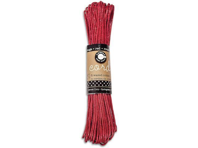 Waxed Cotton Cord 45 Feet/Pkg-Red