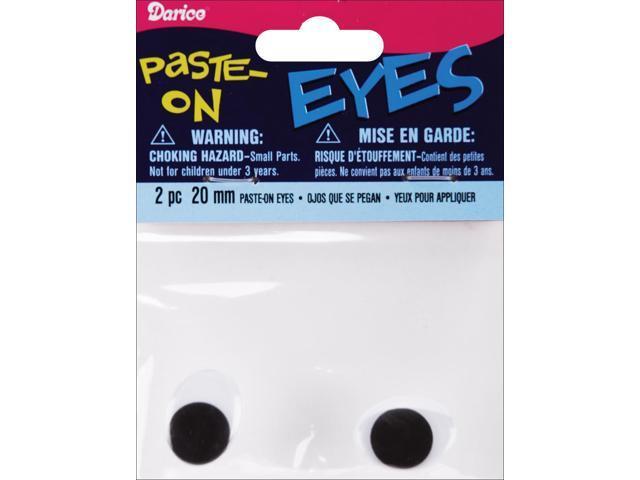 Paste-On Oval Wiggle Eyes 20mm 2/Pkg-Black