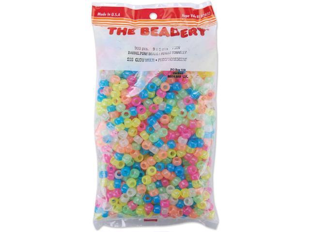 Pony Beads 6mmX9mm 900/Pkg-Glow Multicolor