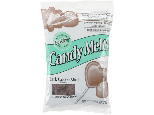 Candy Melts 12 Ounces-Dark Cocoa Mint