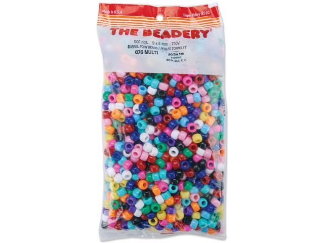 Pony Beads 6mmX9mm 900/Pkg-Opaque Multicolor