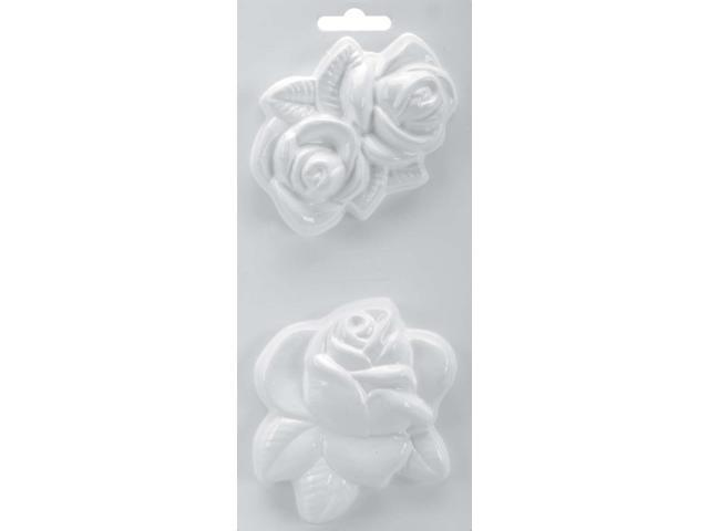 "Soapsations Soap Mold 4""X9""-Rose/Double Rose"