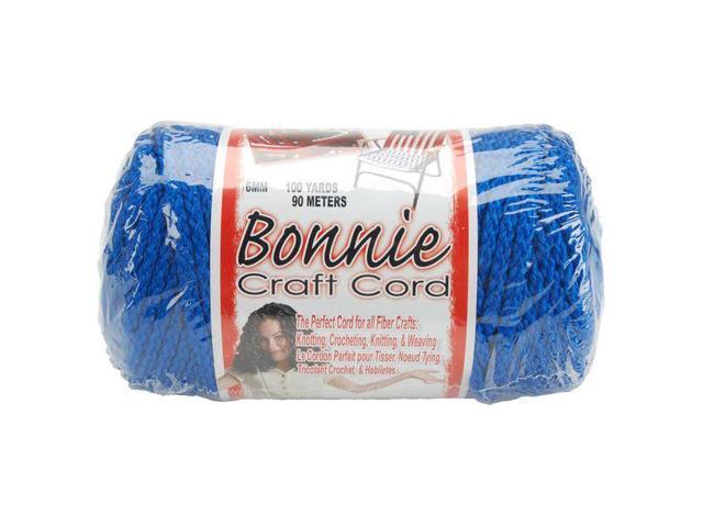 Bonnie Macrame Craft Cord 6mmX100yd-Royal Blue
