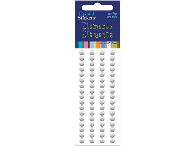 Crystal Stickers Elements 5mm Round 68/Pkg-Clear