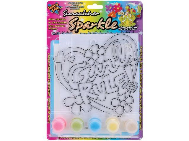 Suncatcher Sparkle Activity Kits-Girls Rule