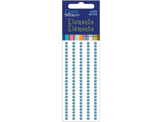 Crystal Stickers Elements 3mm Round 125/Pkg-Light Blue
