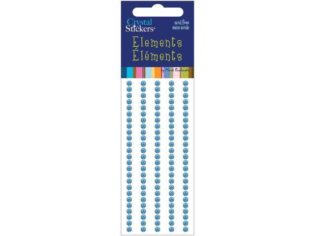 Crystal Stickers Elements 3mm Round 125/Pkg-Light Blue