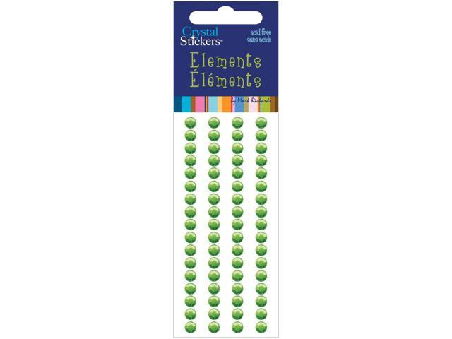 Crystal Stickers Elements 5mm Round 68/Pkg-Green