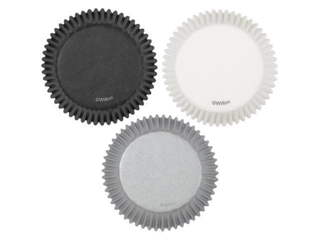 Standard Baking Cups-White/Black/Silver 75/Pkg