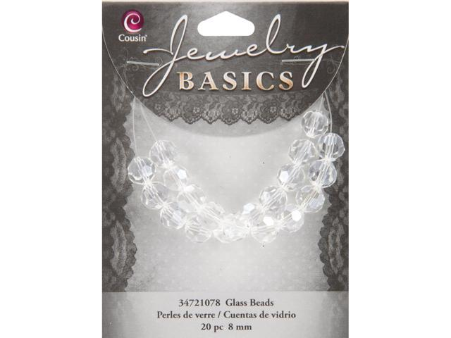 Jewelry Basics Crystal Beads 8mm 20/Pkg-Crystal Round