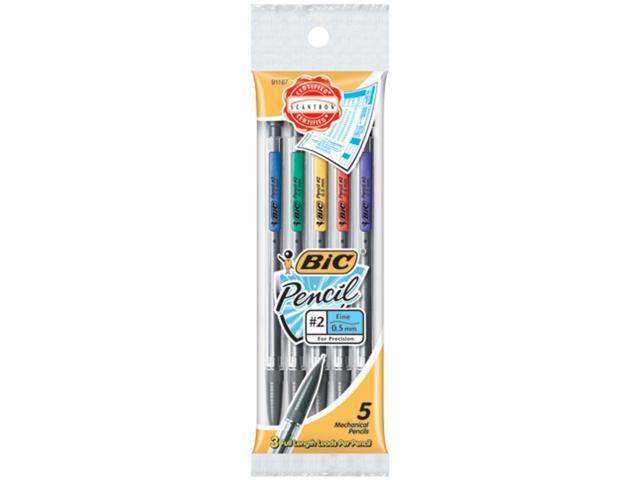 BIC MPFP51 - Grip Mechanical Pencil #2 Pencil Grade - 0.5 mm Lead Size - Black Lead - 5 / Pack
