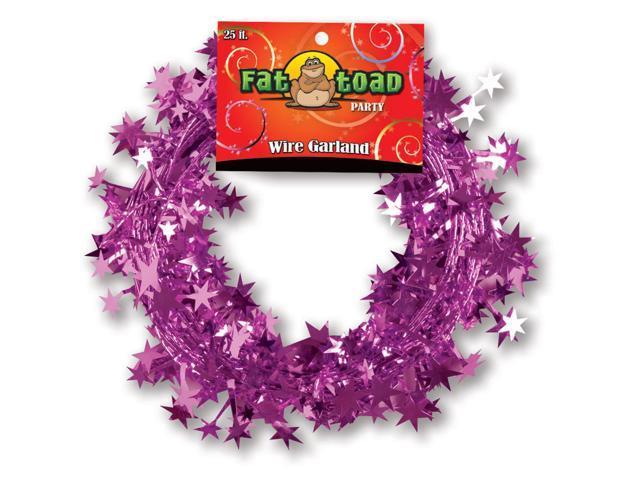Wire Garland 25 Feet/Pkg-Pink Stars