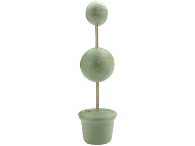 "Topiary Form Bulk 2"" & 3"" Balls 3""Base 14"" Tall-Green"