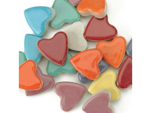 Mosaic Tiles Hearts 20 Ounce Value Pack-Assorted Colors
