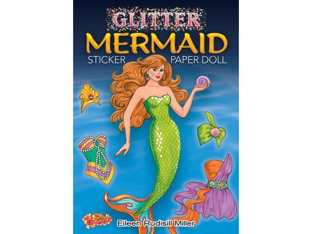 Dover Publications-Glitter Mermaid Sticker Paper Doll