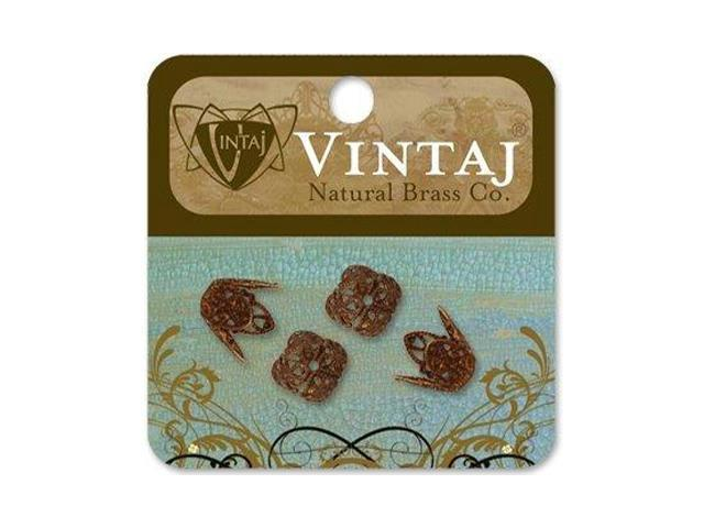 Vintaj Metal Bead Caps-Ornate Filigree 12mm 4/Pkg