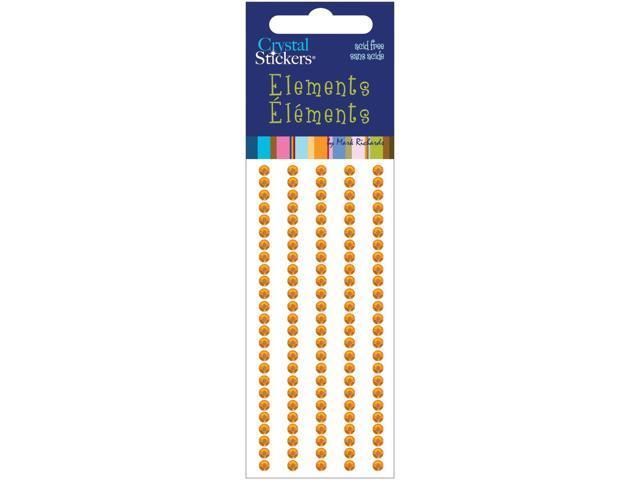 Crystal Stickers Elements 3mm Round 125/Pkg-Orange