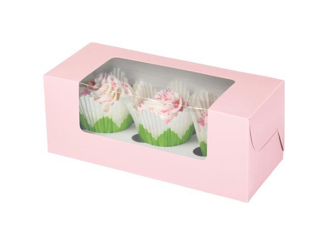 Cupcake Boxes 3 Cavity 3/Pkg-Pastel