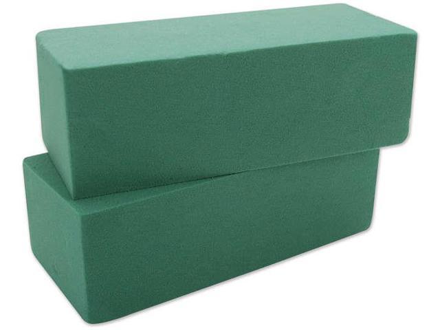 "Wet Foam Block 2-7/8""X3-7/8""X8-7/8"" 2/Pkg-Green"