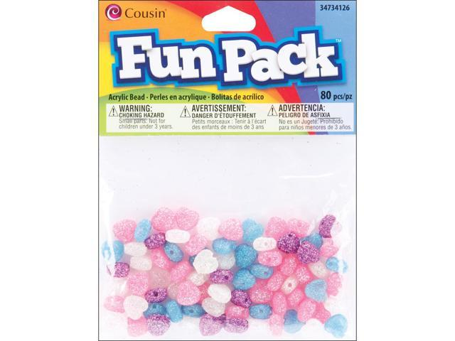 Fun Pack Heart Beads ?mm ?/Pkg-Multi Glitter