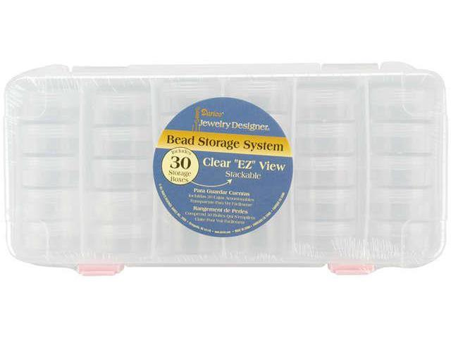 "Stackable Bead Storage System 9.5""X6.375""X1.125""-Clear"