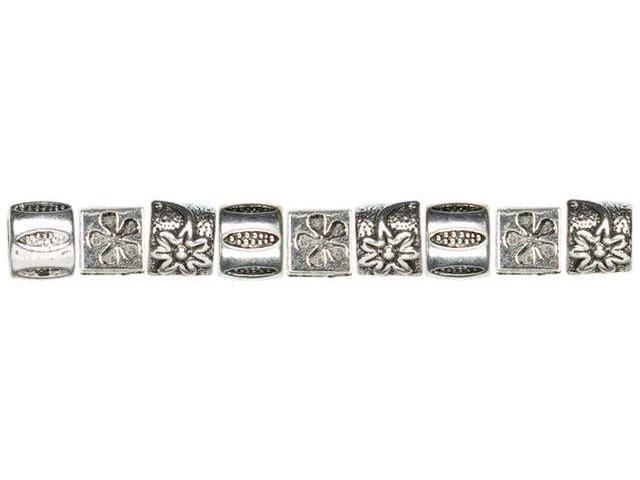 Trinkettes Metal Beads 9/Pkg-Flowers