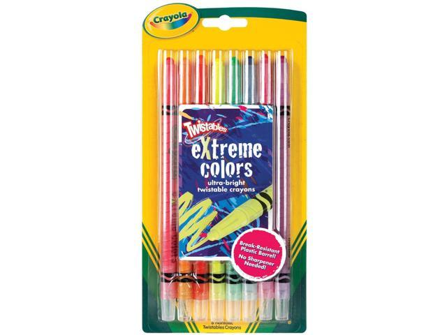 Twistables Extreme Crayons 8/Pkg-Bright Neon