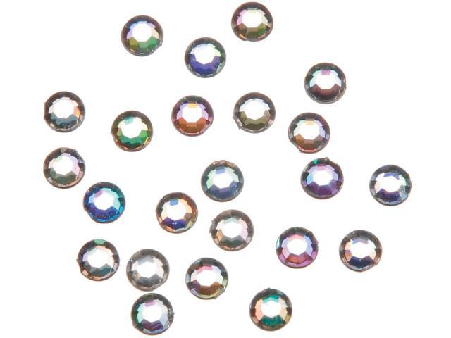 Stick On Rhinestones 5mm 200/Pkg-Crystal Ab