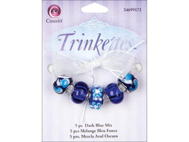 Trinkettes Bead Mix 5/Pkg-Dark Blue
