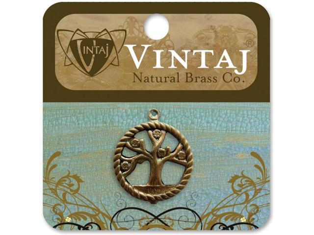 Vintaj Metal Accent 1/Pkg-Tree Of Life 24x20mm
