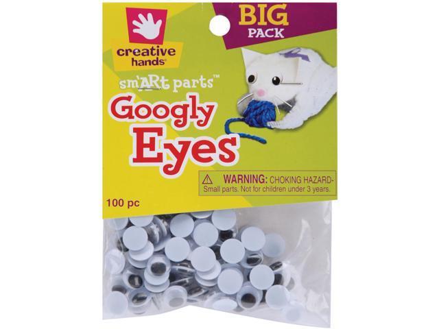 Glue-On Googly Eyes 10mm 100/Pkg-Black