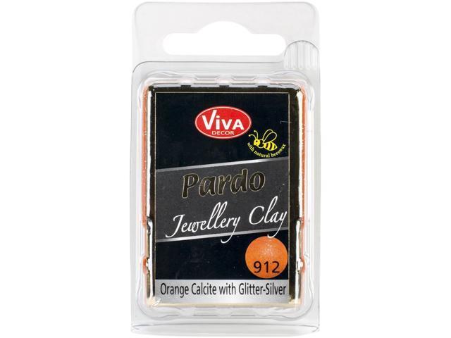 Pardo Jewelry Clay 56G-Orange Calcit W/Silver Glitter