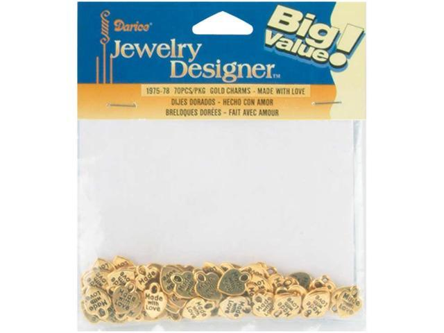 Metal Charms 50/Pkg-Gold Made With Love