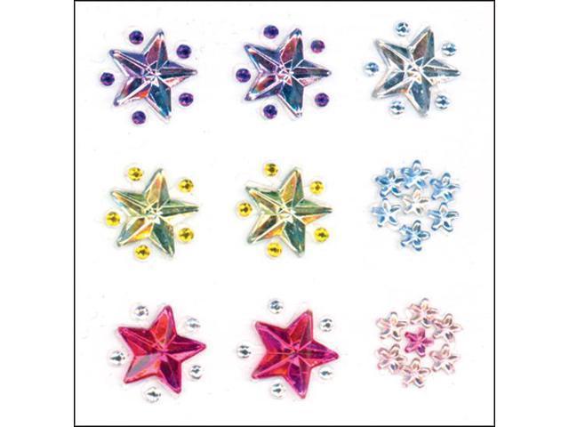 Crystal Stickers 9/Pkg-Stars - Multicolor