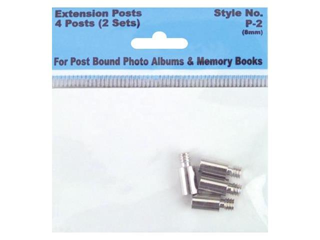 Pioneer Screw Post Extenders 8mm 4/Pkg-