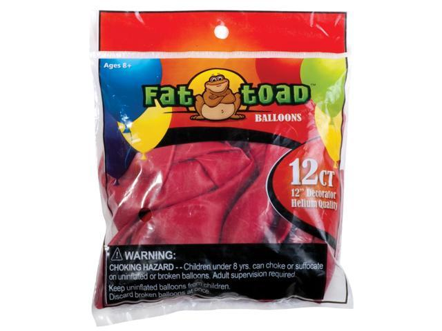 """Fat Toad Latex Balloons 12"""" 12/Pkg-Cherry Red"""