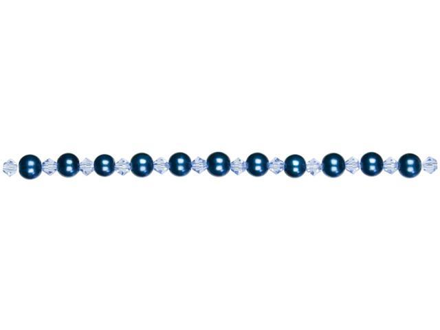 Jewelry Basics Pearl & Crystal Bead Mix 6mm 101/Pkg-Blue Round