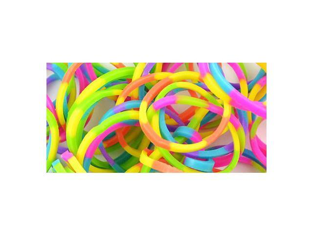 Loom Bands Value Pack 525/Pkg-Striped Neon