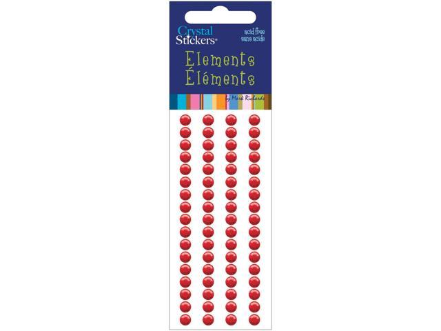 Crystal Stickers Elements 5mm Round 68/Pkg-Red