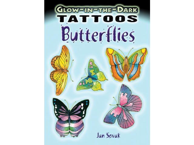 Dover Publications-Glow-In-The-Dark Tattoos Butterflie
