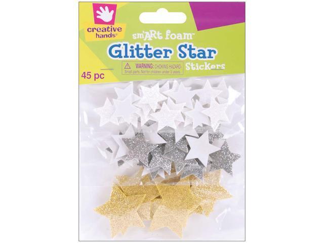Foam Glitter Stickers 45/Pkg-Stars