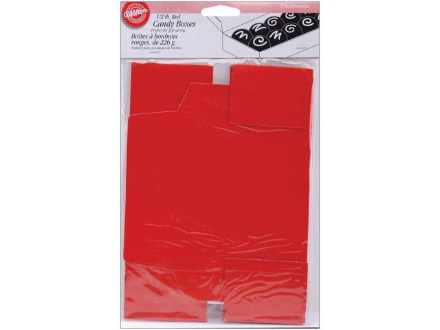 Candy Boxes 1/2 Pound 3/Pkg-Red