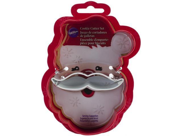 Metal Cookie Cutter Set 2/Pkg-Santa Face