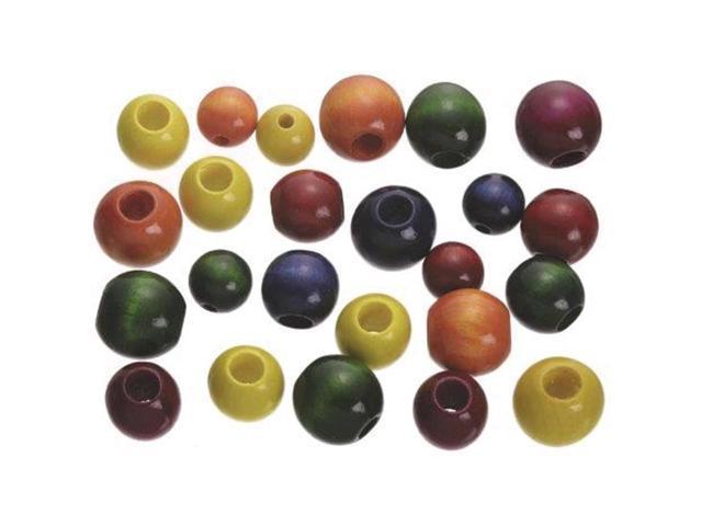 Large Wood Beads Assorted 45/Pkg-Fashion