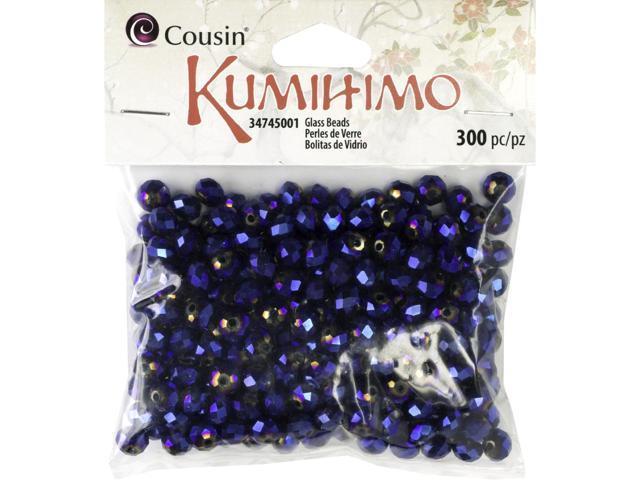 Rondelle Glass Beads 6mm 300/Pkg-Metallic Blue