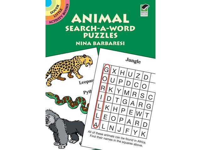 Dover Publications-Animal Search-A-Word Puzzles Book