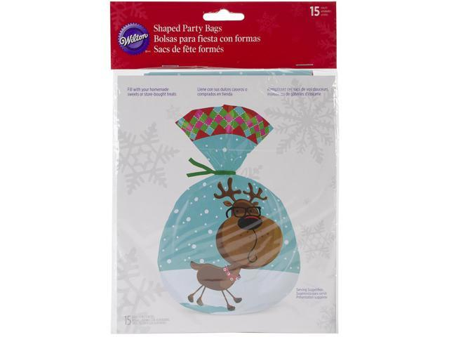 Shaped Party Bags 15/Pkg-Sweet Holiday Sharing