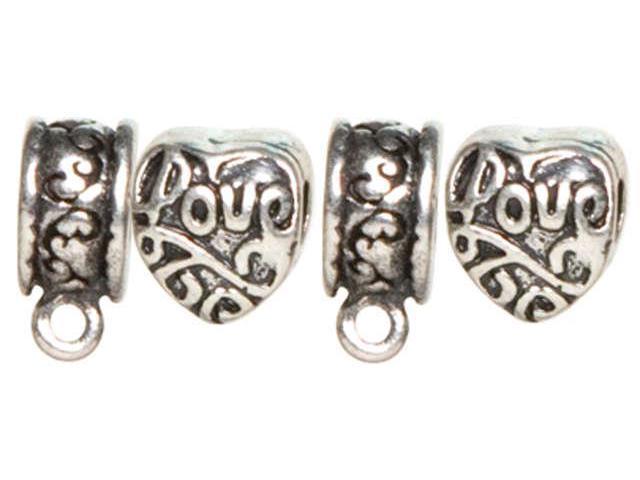 Trinkettes Metal Spacers-Heart & Ring W/Loop-5/Pkg