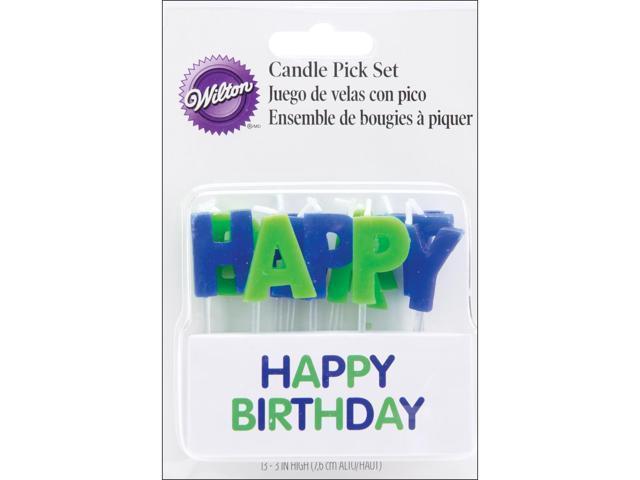 Candles On Picks-Happy Birthday Blue 13/Pkg